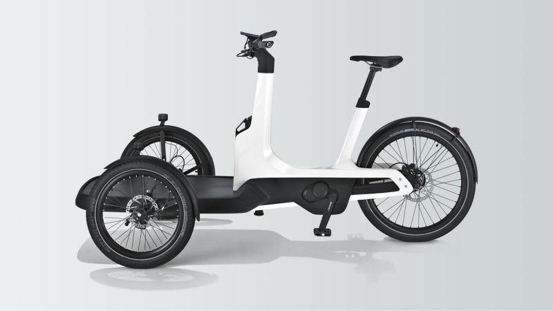 Le Cargo e-Bike de Volkswagen Commercial Vehicles en vue de côté.