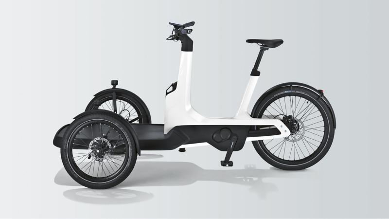 Das Cargo e-Bike von Volkswagen Nutzfahrzeuge in der Seitenansicht.