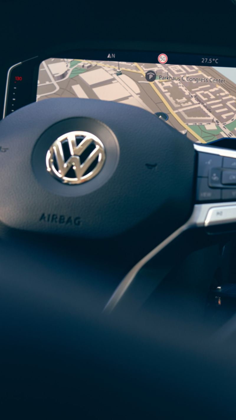 Instrumentpanelen i en VW California campingbil