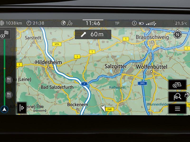 Navigationssystemet Discover Pro i en Multivan 6.1