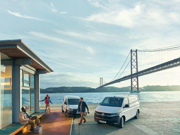 vw volkswagen varebiler og store personbiler Caddy Transporter Amarok pickup