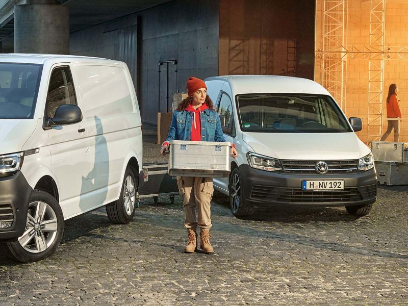 VW Transporter und VW Caddy im Einsatz.