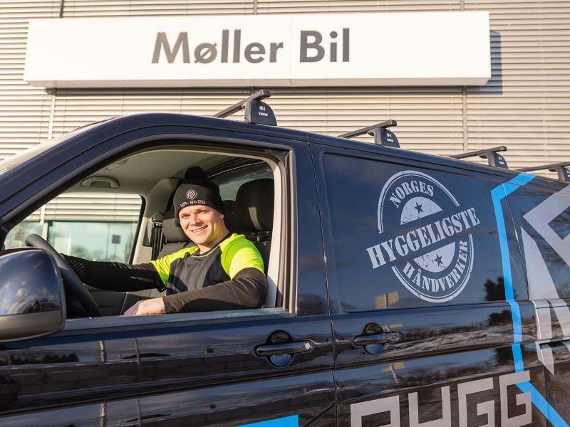 Norges Hyggeligste Håndverker 2020 hovedsponsor vw Volkswagen Nyttekjøretøy Transporter 6.1 Caddy varebil varebiler kassebil arbeidsbil budbil
