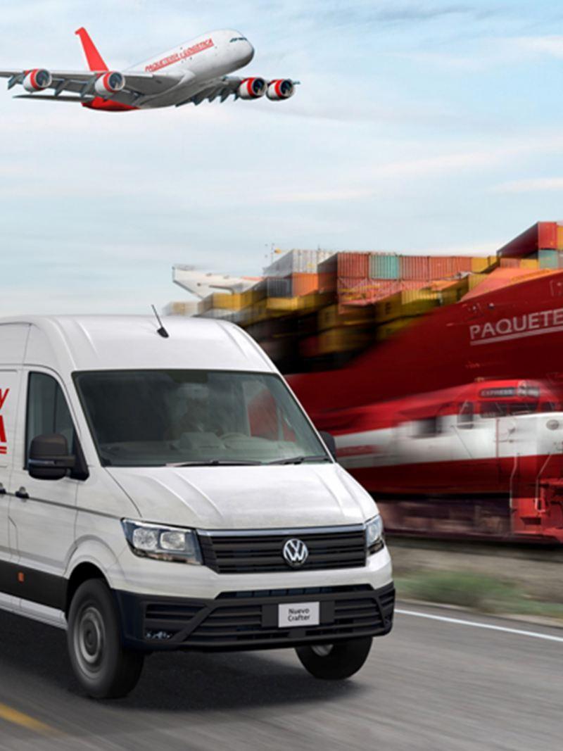Crafter Cargo camioneta para paquetería y mensajería