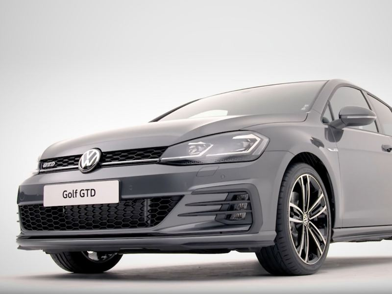 Front of a Volkswagen Golf GTD