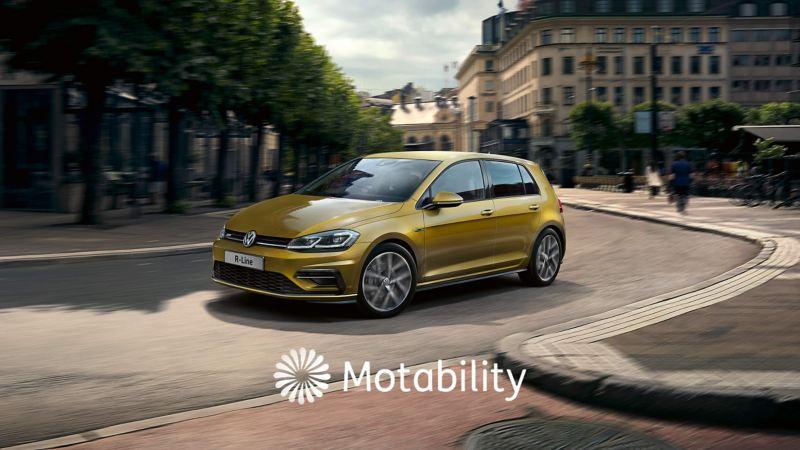 Action shot of Volkswagen R-Line