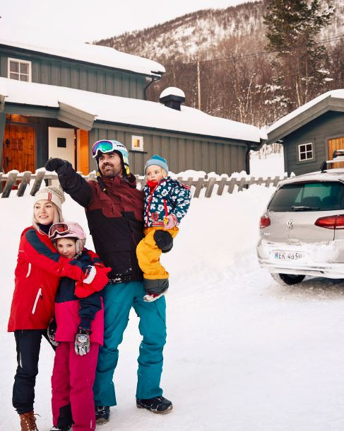 e-Golf er med Thomas og familien hans på alle utendørsaktiviteter.