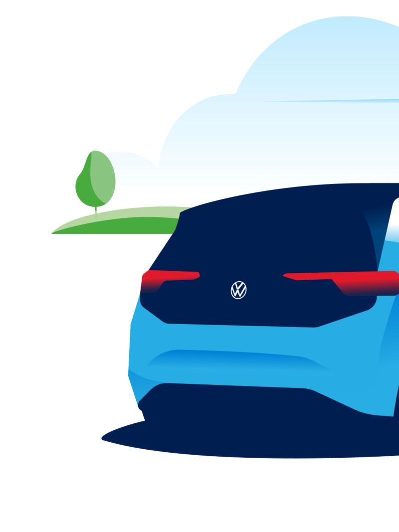 Une femme recharge sa voiture électrique