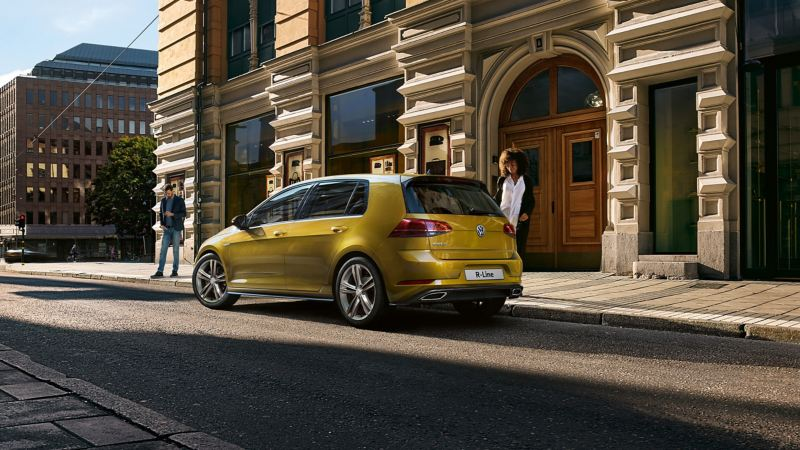 Volkswagen R-Line parked in the street