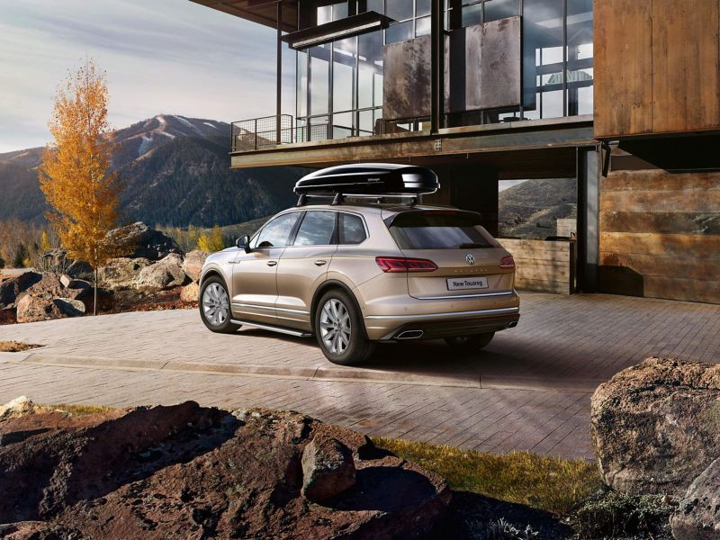 Volkswagen Touareg with a roof accessory