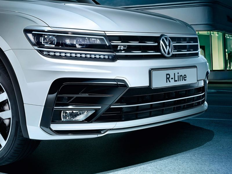 Close up of Volkswagen R-line car