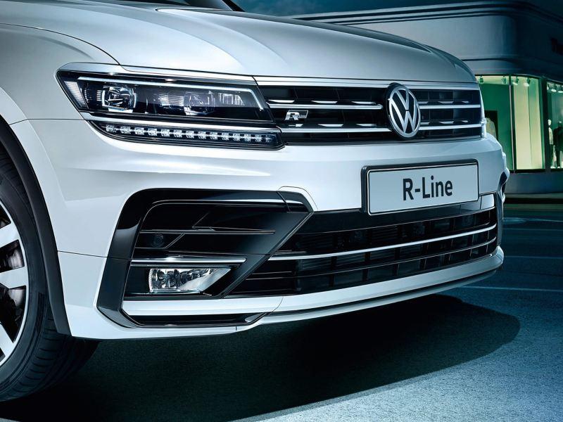 Close up of Volkswagen R-line car