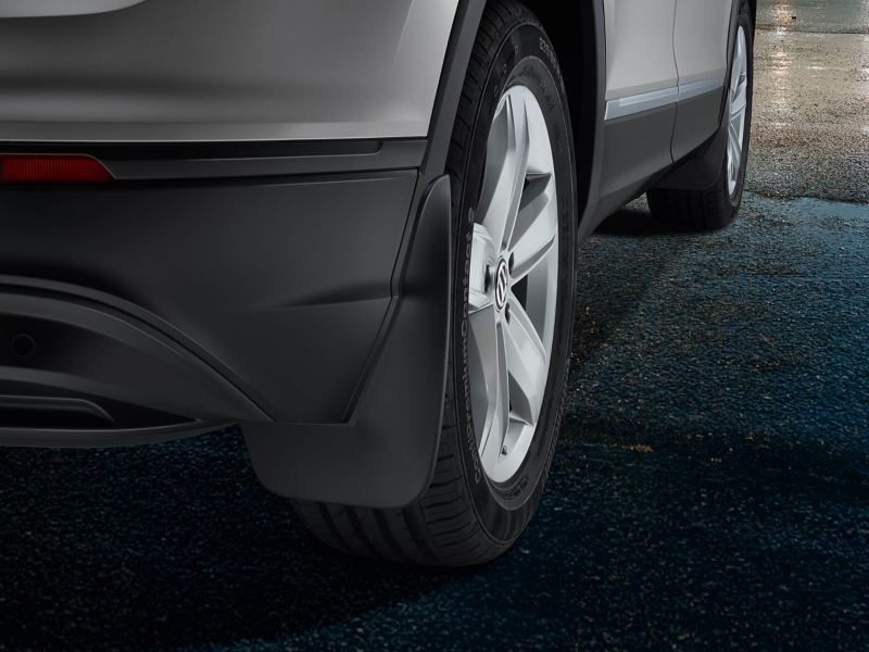 Close up of Volkswagen mud flaps