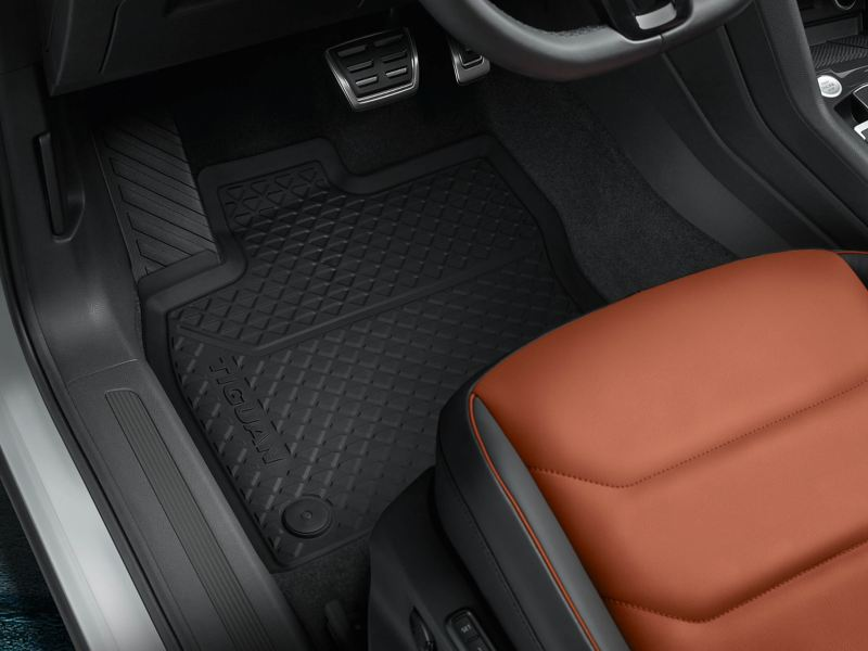 Close up of Volkswagen rubber mat