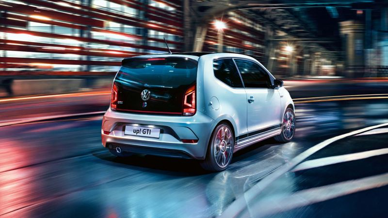 Volkswagen up! GTI driving in a tunnel