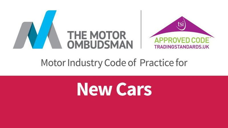 Motor industry code of practice for new cars