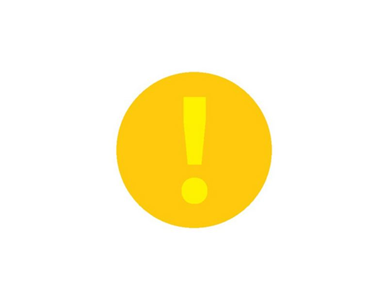 A yellow exclamation mark