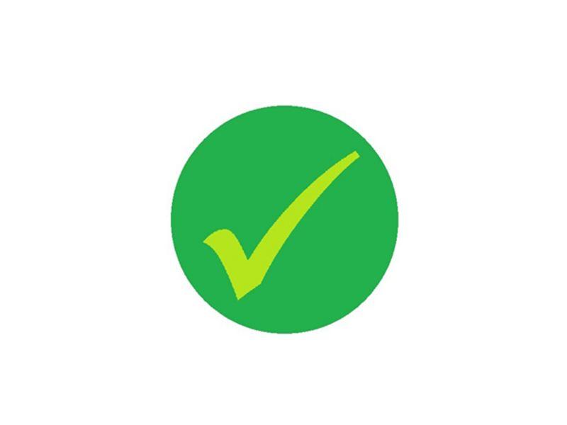 A green tick