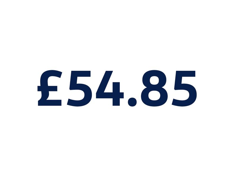 £54.85 on white background