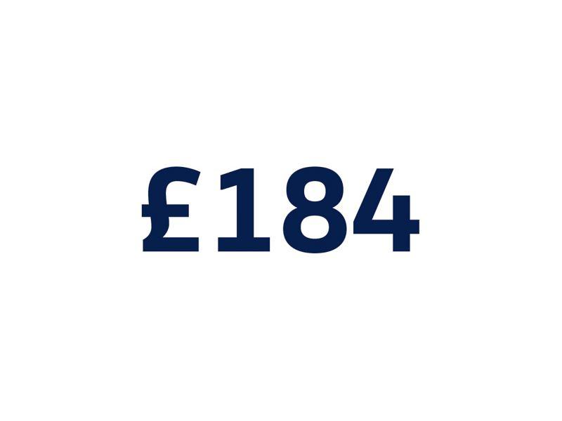 £184 on white background