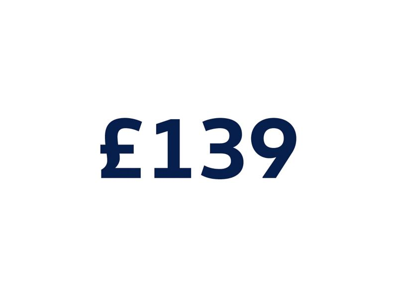 £139 on a white background