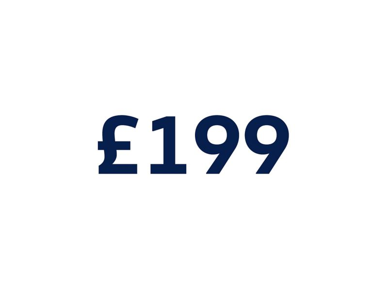 £199 on a white background