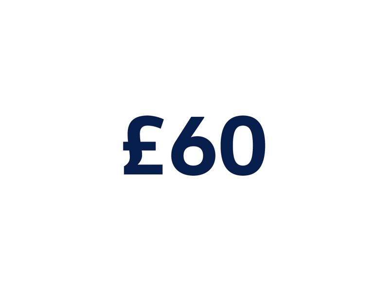 £60 on a white background