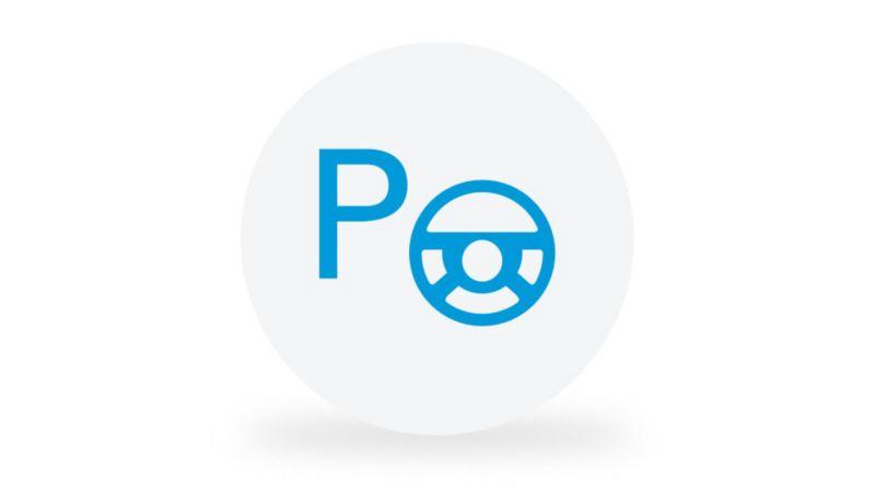"""Ein Piktogramm symbolisiert die Funktion des Parklenkassistenten """"Park Assist""""."""