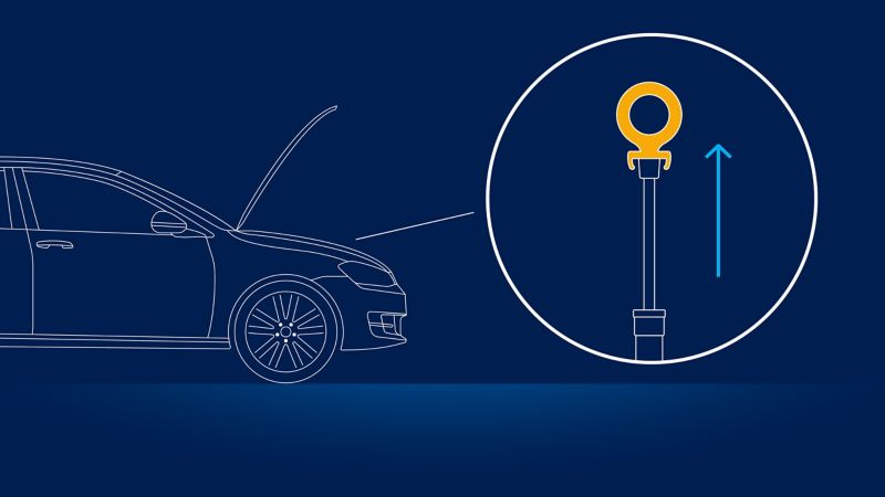 Instrucciones para medir correctamente el aceite en los autos Volkswagen