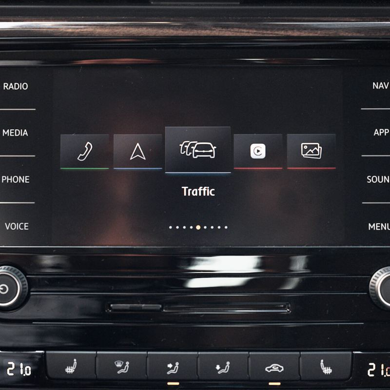 The 2020 Volkswagen Passat infotainment system