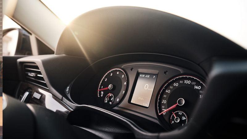 VW Passat interior instrument cluster