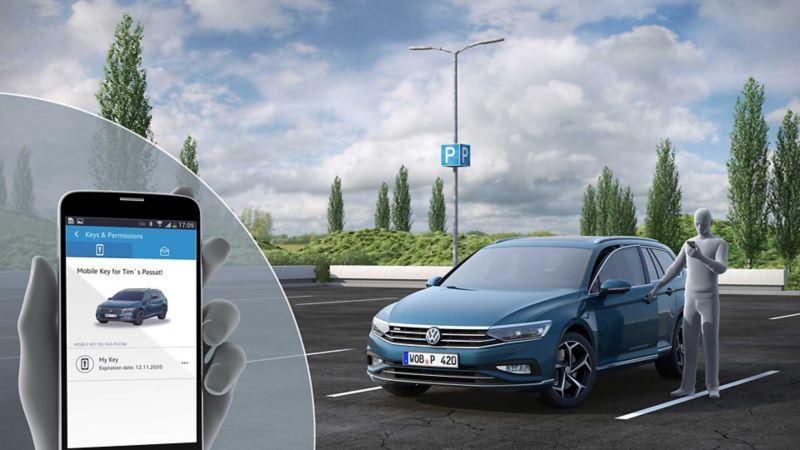 Volkswagen Passat digital nøkkel