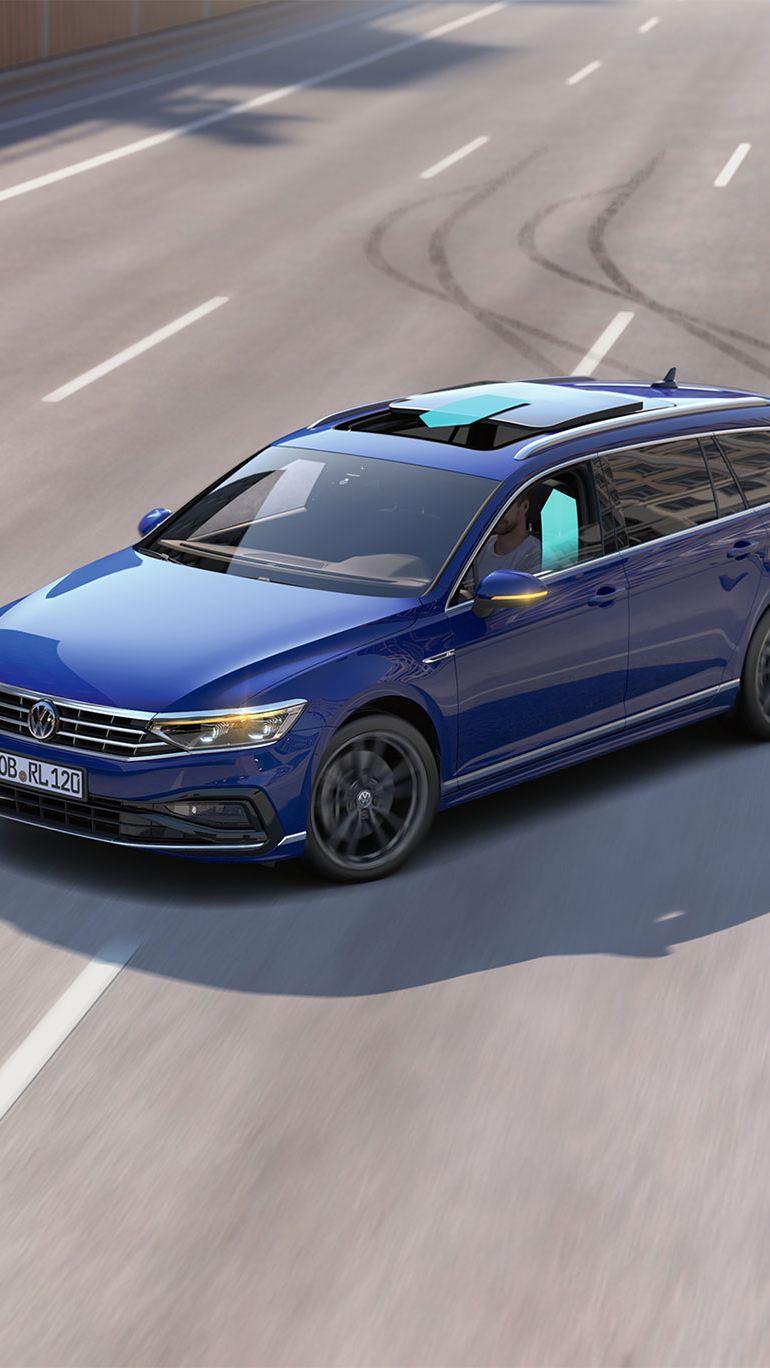 Volkswagens sikkerhetssystemer forhindrer ulykke