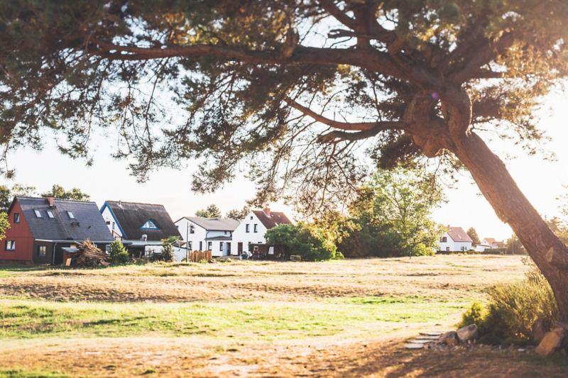 Case unifamiliari in un ambiente rurale