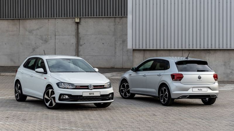 polo and polo gti with new logos