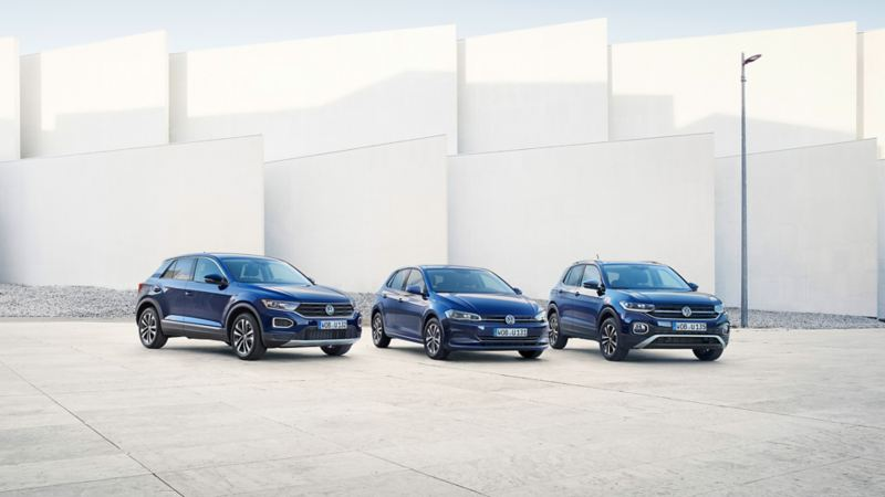 Volkswagen UNITED range T-Roc, Polo, T-Cross