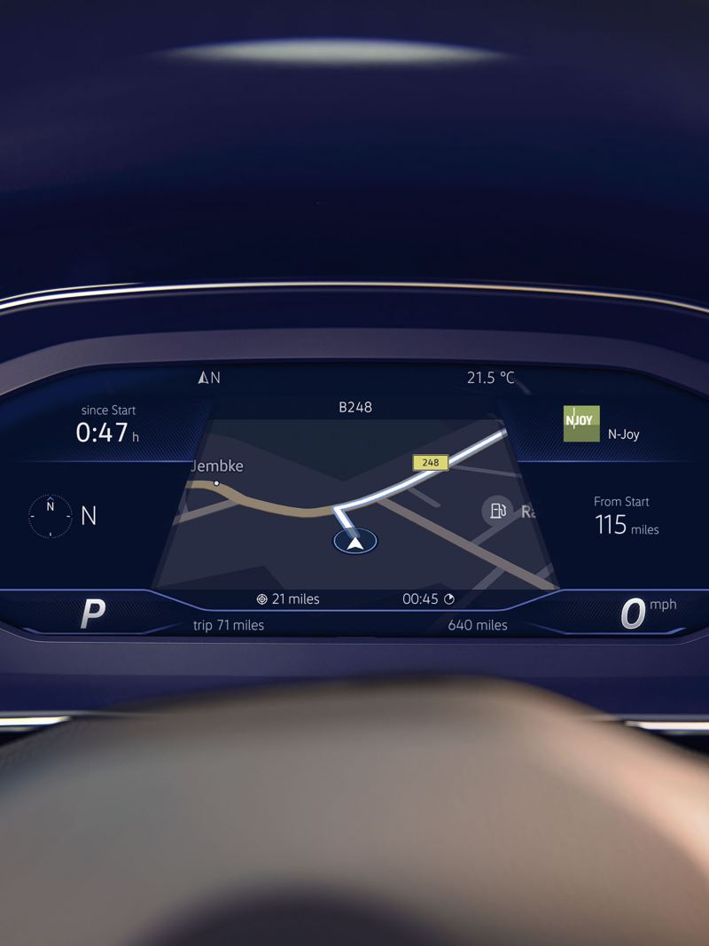 In built app-connect, shown inside a Volkswagen Passat.