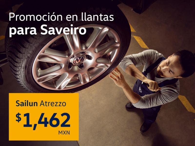 Promoción en llantas para Volkswagen Saveiro