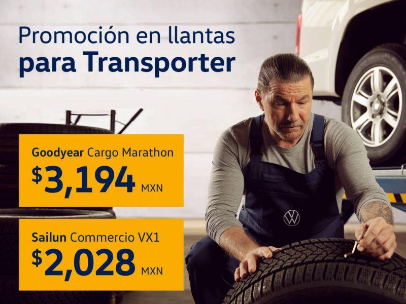 Promoción en llantas para Volkswagen Transporter