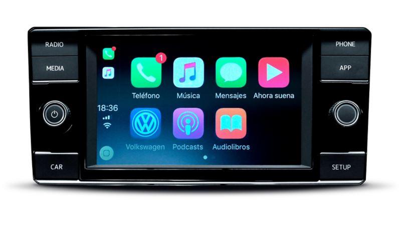 Radio con pantalla táctil en Nuevo Virtus de Volkswagen