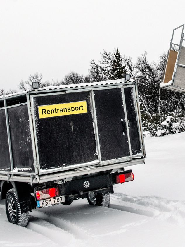 Ramp för lastning till rentransporten