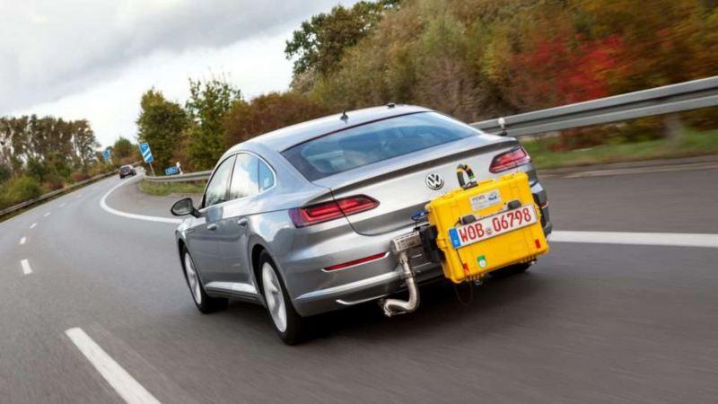 Volkswagen som utför RDE-testet i trafik.