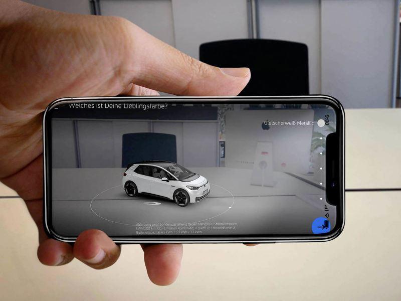 L'appli EV Check en mode réalité augmentée