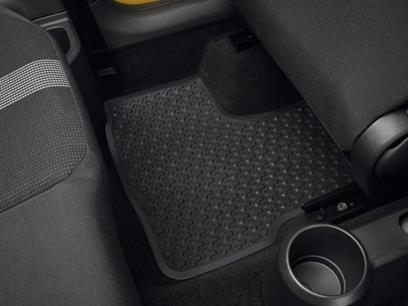 Rear rubber foot mat