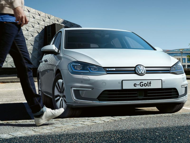 A Golf GTE being charged
