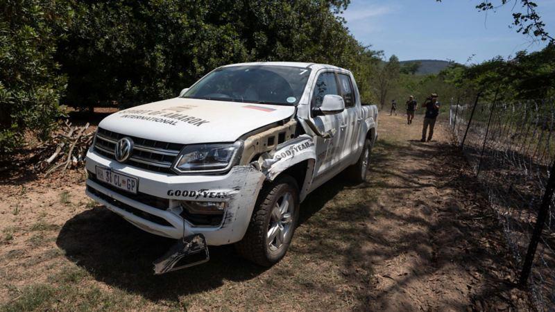 Ryska teamet kvaddade sin bil i Spirit of Amarok