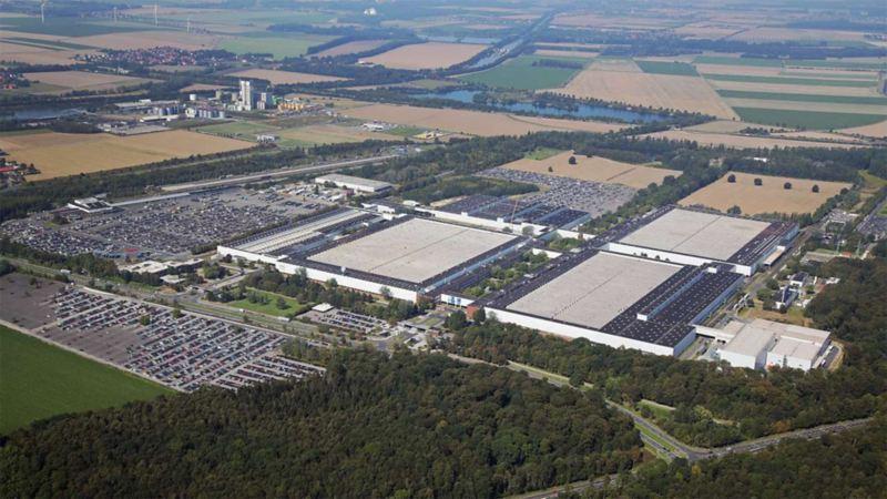 Panorama des Volkswagen Werks Salzgitter