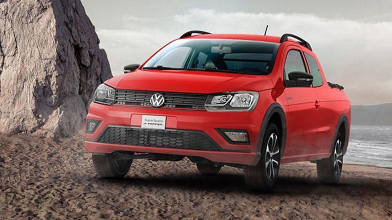 Camioneta doble cabina Saveiro Volkswagen con gran capacidad de carga