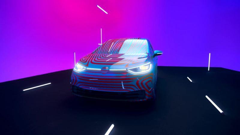 VW Volkswagen ID.3 prototype kamuflert i studio
