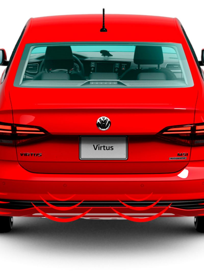 Sensores de reversa de Nuevo Virtus de Volkswagen